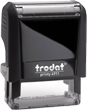 "4910 - SMALLEST Trodat Self Inking Stamp4910 3/8""x1"" Too small for return address. Ok for one line one or two words"