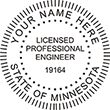 ENG-MN - Licensed Professional Engineer Round Stamp- Minnesota<br>ENG-MN