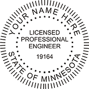 Licensed Professional Engineer Round Stamp- Minnesota<br>ENG-MN