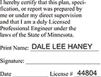 ENG-STAMP-MN - Licensed Professional Engineer (Rect. Stamp) - Minnesota<br>ENG-STAMP-MN