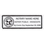 MN-NOT-RECT - Rectangular Minnesota Notary Stamp