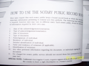 Notary Public Record Book (Journal)
