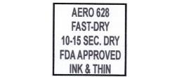 628 INK 10-15 SECOND USDA APPROVED