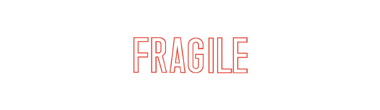 1010 - 1010 FRAGILE Stock XStamper
