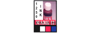 1250INK-4  - 1250INK  4oz.Stock Color Available In Black, White, Red or Blue, MUST SHIP UPS GROUND