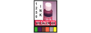 1250INK-4 SPECIAL COLOR - 1250INK 4oz.Special Order Colors Available In Green, Purple, Brown, Orange, Silver, Yellow MUST SHIP UPS GROUND