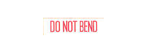 1537 - 1537 DO NOT BEND Stock XStamper