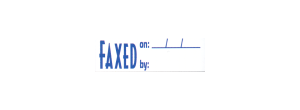 1820 - 1820 FAXED/ON/BY Stock XStamper