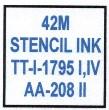 42M (FORMERLY 1045) STENCIL INK
