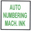 AUTOMATIC NUMBERING MACHINE INK